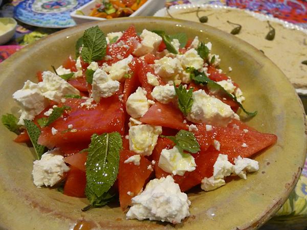 salade tomates pastèque