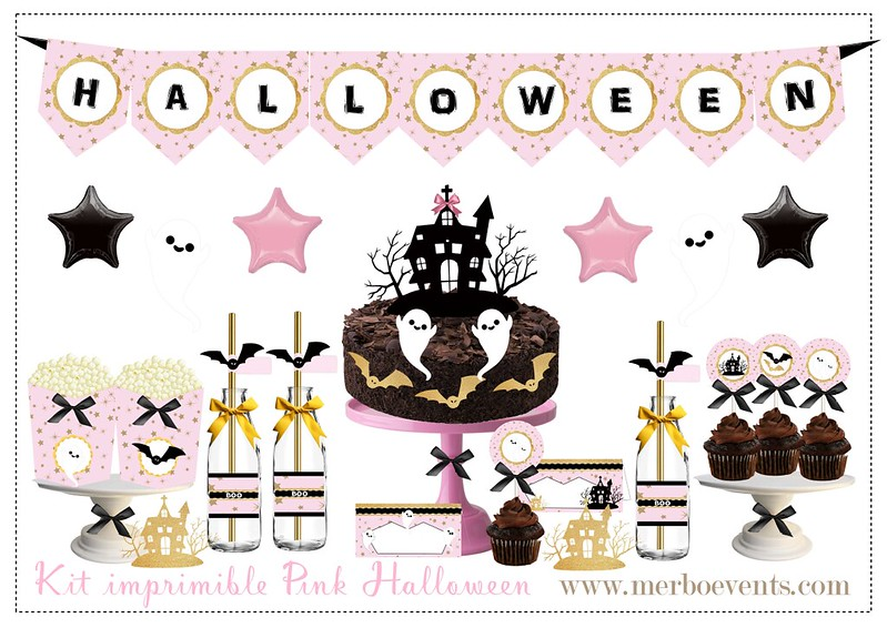 KIT HALLOWEEN ROSA