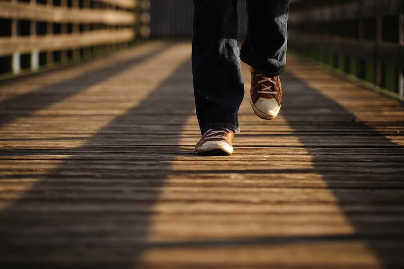 Person walking.