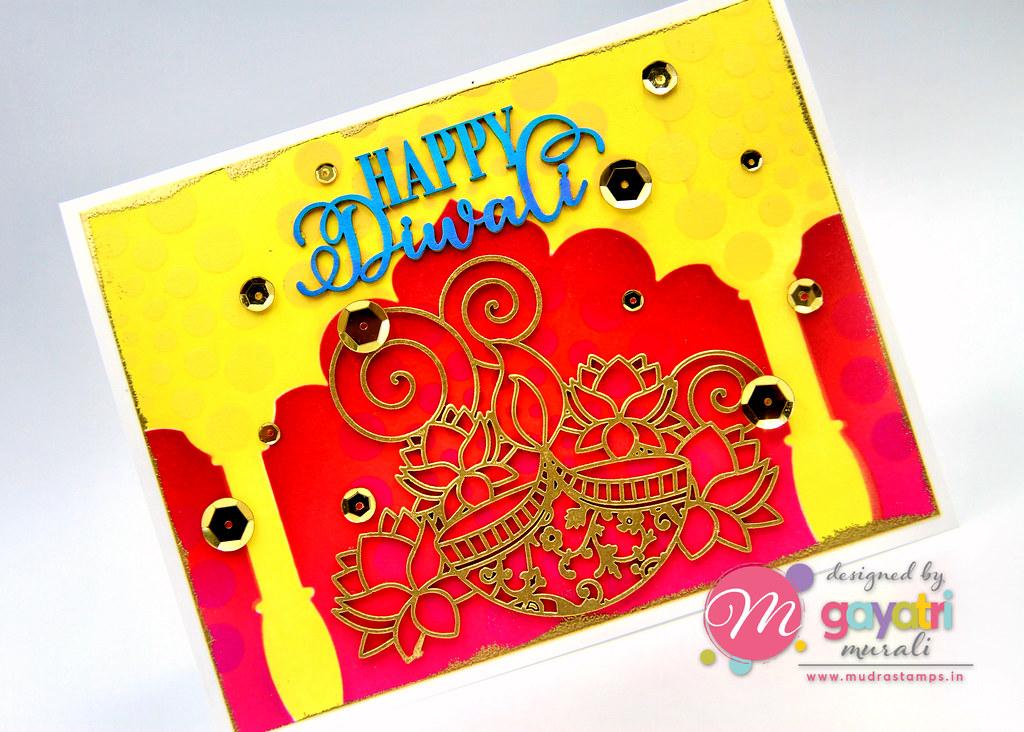 Happy Diwali1 card closeup