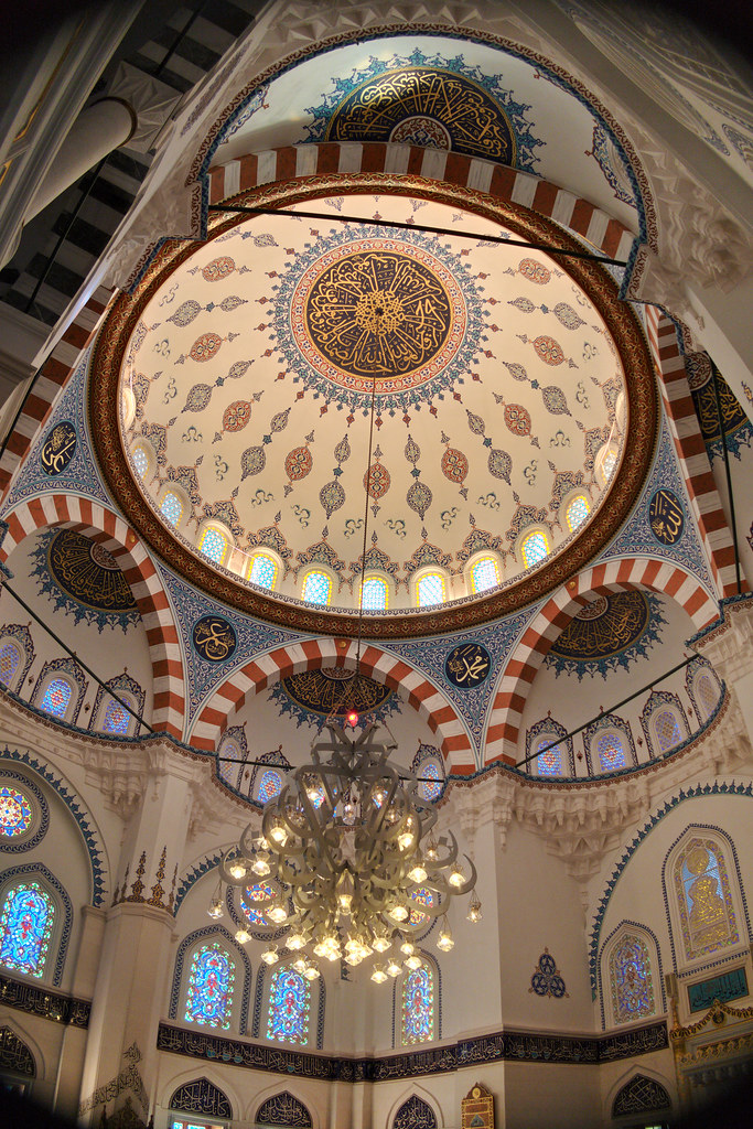 the ceiling domes and pendant lamp