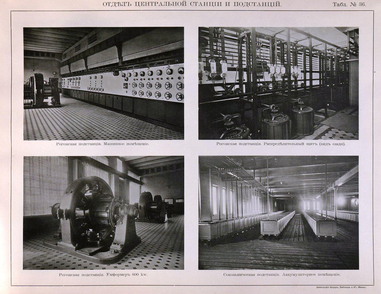 37. Рогожская подстанция - машинное помещение, распределительный щит, умформер 600 KW