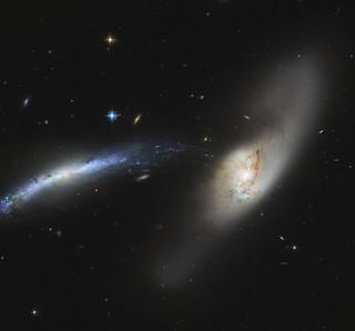 Hubble Views a Galactic Waterfall
