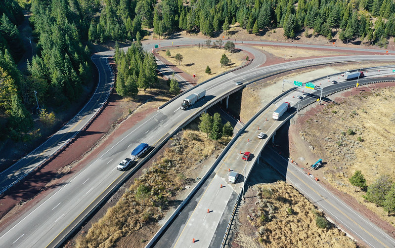 I-5 Exit 6 northbound bridge completed, Oct. 2020te_Oct15_2020