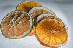 Dried fruit 5 pieces side view