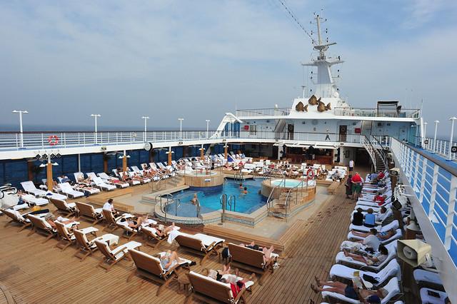 Nautica guests relaxing mid Arabian Sea