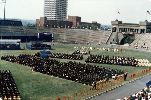1965 commencement, Archbold Stadium, Syracuse University