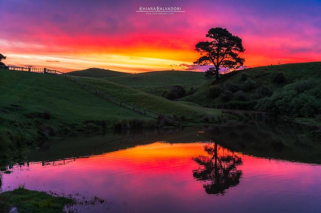 Sunset in Hobbiton