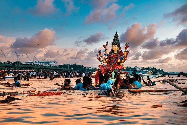 প্রতিমা বিসর্জন - দুর্গাপূজা   Durga Puja