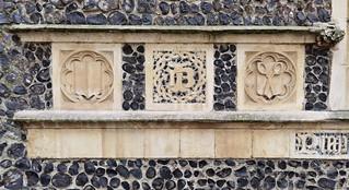 Shield, John Baldwyn monogram, draper's shears