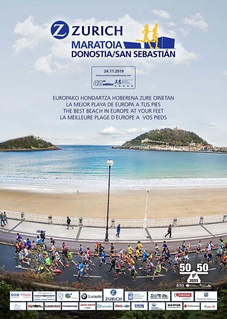 19em compétition, dimanche 24 novembre 2019, Semi marathon de San Sebastien, 733em sur 2228 classés, 1h39,01 record battu