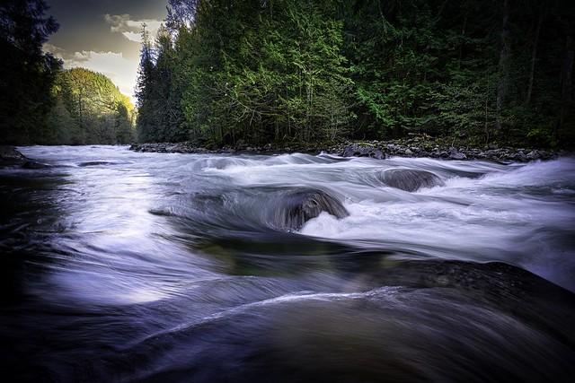 ...at the river...