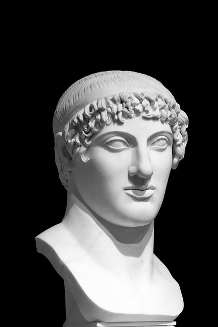 Ideal male head with diadem