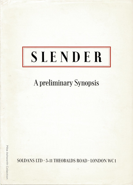 Slender - a preliminary Synopsis : typeface specimen sheet issued by Soldans Ltd., London, nd [c1950?]