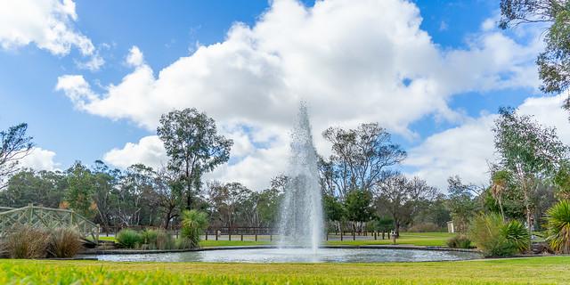 Swan Hill Riverside Park fountain, Swan Hill, Northern Victoria