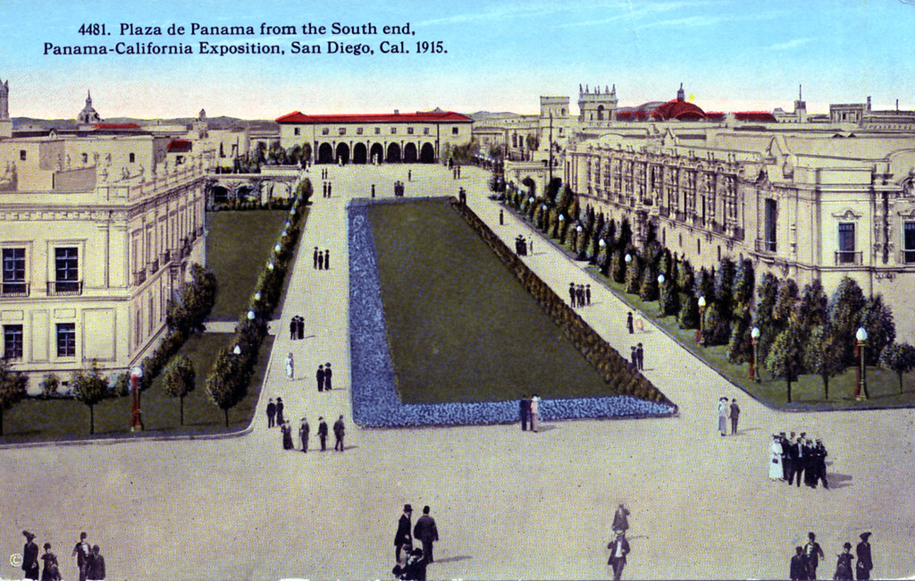 Plaza de Panama from the South End Panama California Exposition San Diego CA