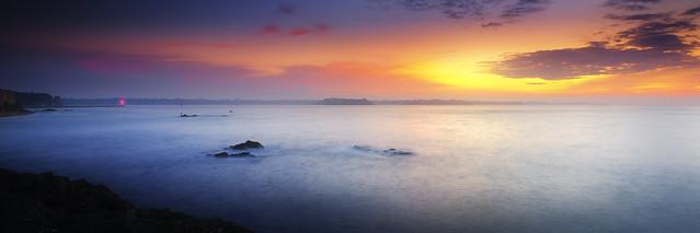 Sunset entre Saint-Malo et Dinard