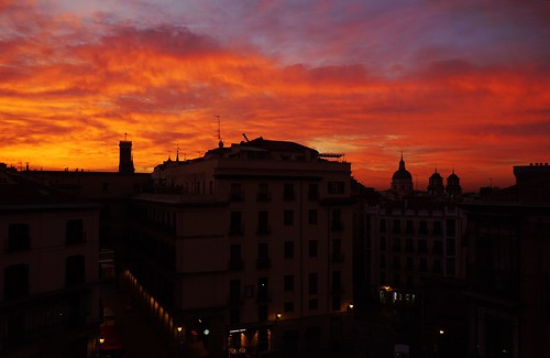 sunrise madrid spain
