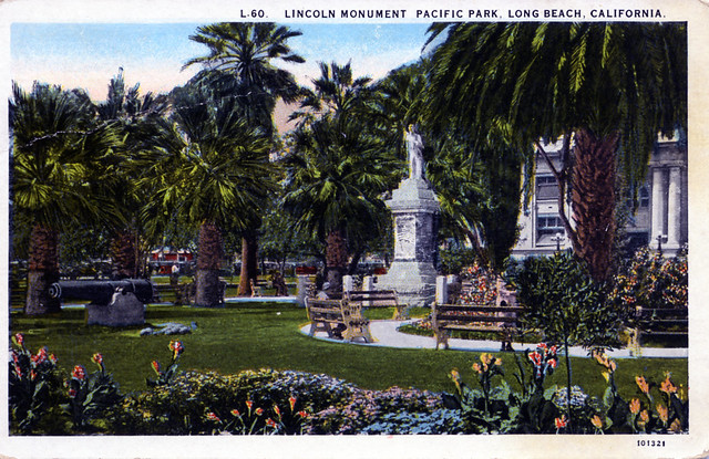 Lincoln Monument Pacific Park Long Beach CA