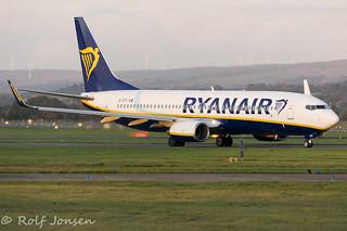 EI-EFG Boeing 737-800 Ryanair Glasgow Airport EGPF 06.10-17