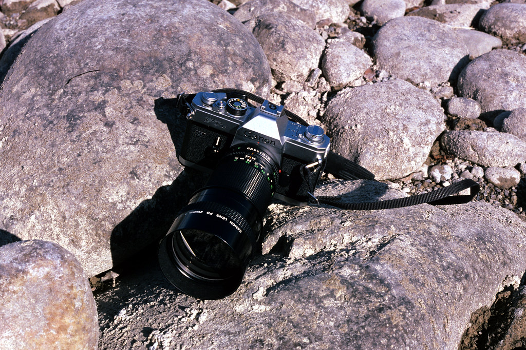 Canon FTb on the Rocks