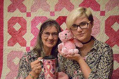 The Bear and Quilt were donated for Breast Cancer Awareness photo sessions