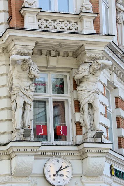 0250 Historische Architektur in der Hamburger Innenstadt, Stadtteil Neustadt.