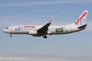 EC-IDA Boeing 737-800 Air Europa Barcelona Airport LEBL 16.03-18