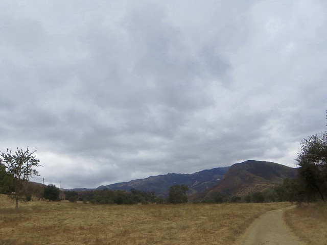 clouds over Paramount Ranch