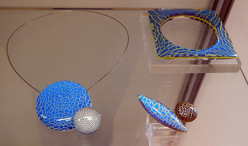 Unique designer jewelry for sale in the craft market in Ruthin, Wales