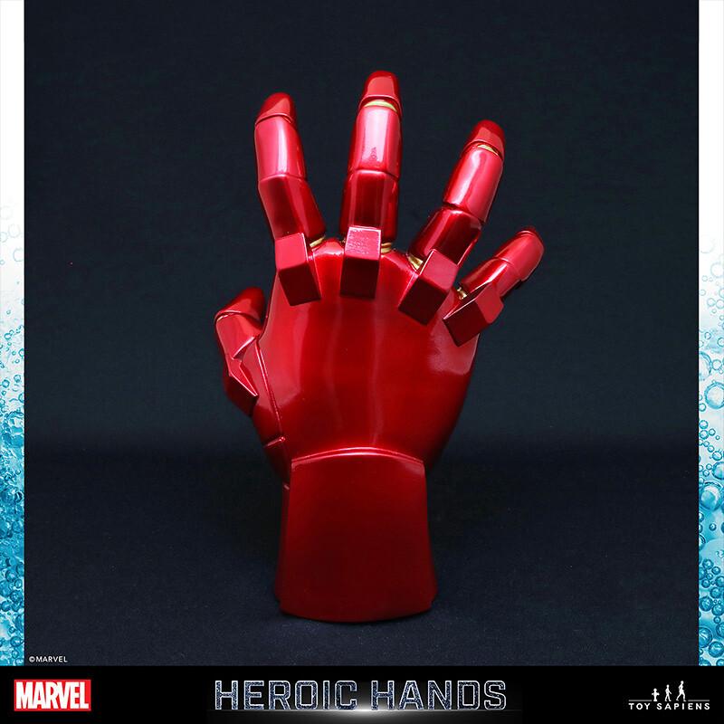 Toy Sapiens Marvel【英雄之手】1:1比例雕像!蜘蛛人、鋼鐵人、死侍參戰