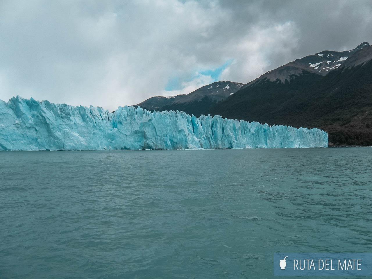 El glaciar desde el paseo