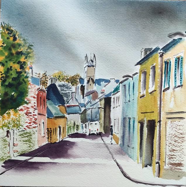 Quimperlé, la rue Gorrequer