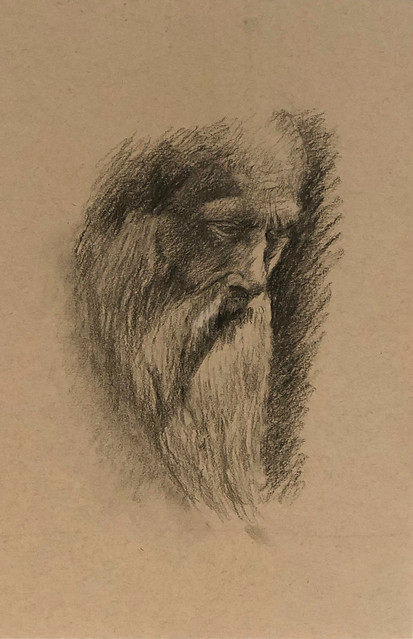 Aging. Charcoal on Strathmore 400