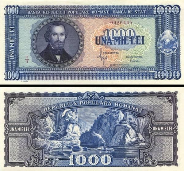 1000 Lei Rumunsko 1950, P87a