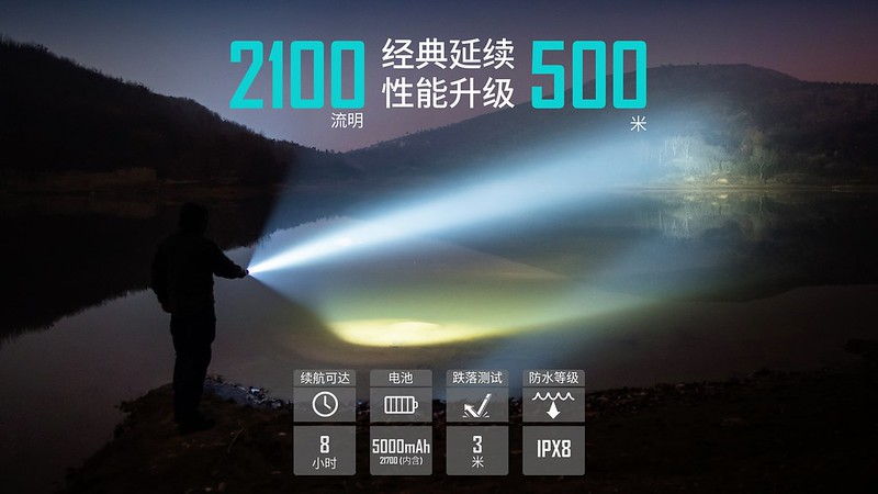 OLIGHT Warrior X PRO 武士 Red Blue 2250流明 遠射 戰術手電筒 -2
