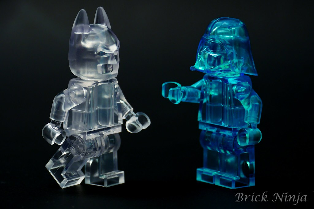 Ice Batman and Force Ghost Vader