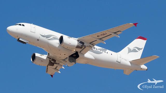 TLV - Private Airbus A319(CJ) M-YULI