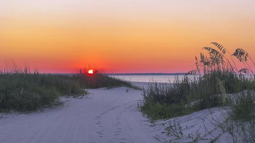 morning baysaintlouismississippi sand sunrise mississippigulfcoast baysaintlouis dawn mississippi beach seaoats gulfofmexico