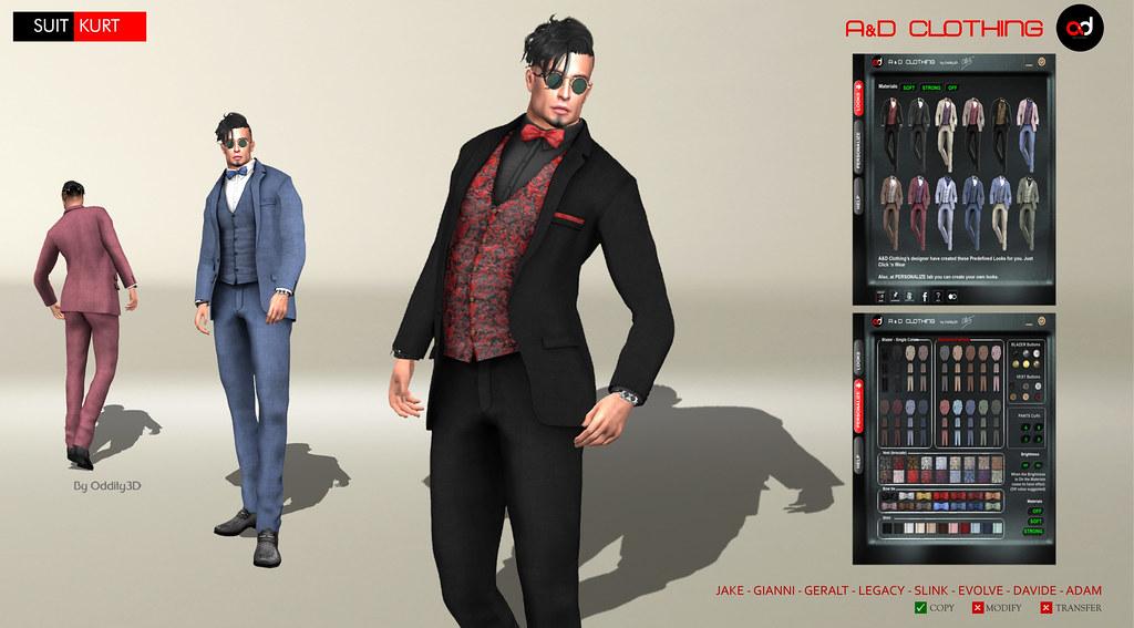 ! A&D Clothing – Suit -Kurt-   NewRelease