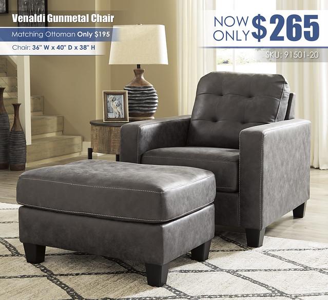 Venaldi Gunmetal Chair_91501-20-14