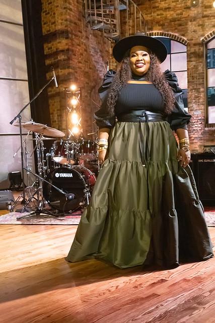 HENDERSONVILLE, TN - SEPTEMBER 16:  Tasha Cobbs Leonard during the 2020 Dove Awards at TBN Studios on September 16, 2020 in Hendersonville, Tennessee.  (Photo by Don Claussen/Trap The Light Photography for Dove Awards)