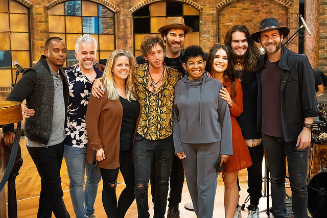 HENDERSONVILLE, TN - SEPTEMBER 14:  We The Kingdom w/2020 Dove Awards Production Team during the 2020 Dove Awards at TBN Studios on September 14, 2020 in Hendersonville, Tennessee.  (Photo by Don Claussen/Trap The Light Photography for Dove Awards)