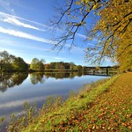 Autumn riverside at Preston