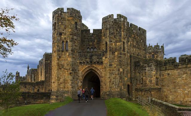 Alnwick Castle, Northumberland, UK, October 2020