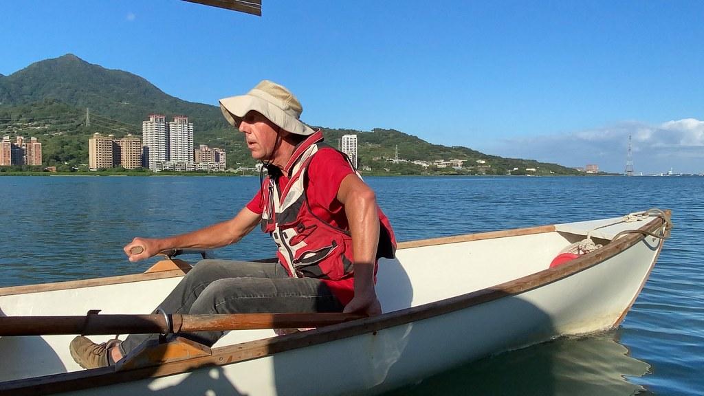 Peter買下原本要報廢的木船,經維修過後繼續使用。許祖菱攝