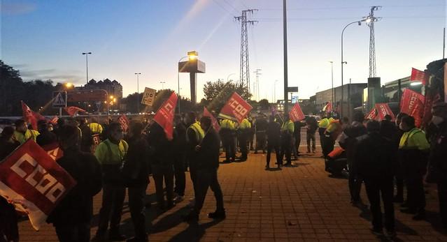 Foto de CCOO de Sevilla. Huelga Persán