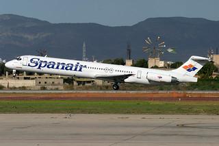 EC-GHH. MD-83. Spanair. PMI.