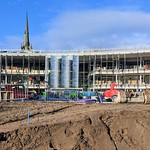 The glass walls go up at the new UCLan community building in Preston
