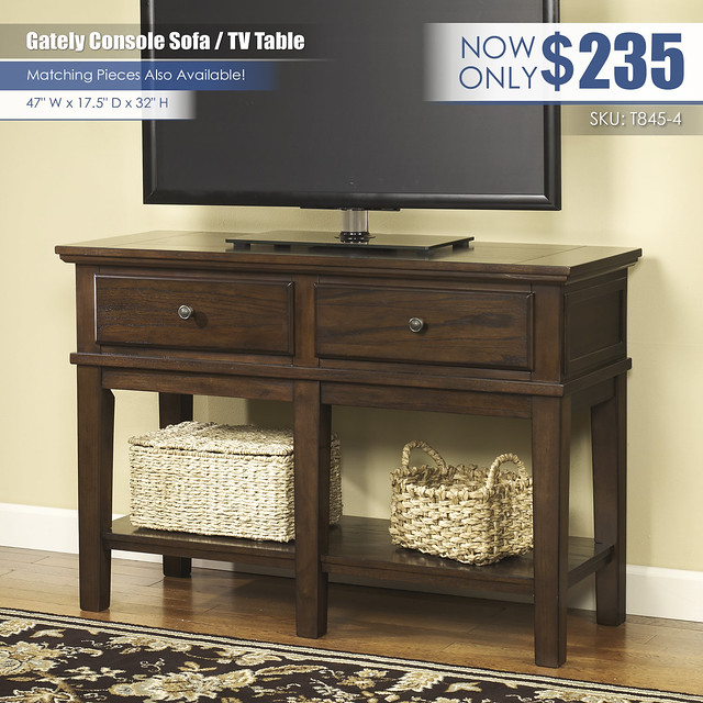 Gately Console Sofa TV Table_T845-4-TV-SD